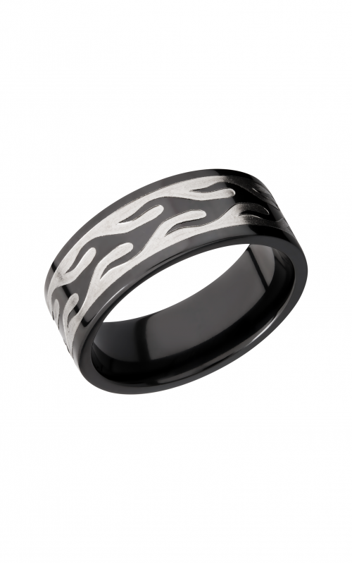 Lashbrook Zirconium Wedding band Z9F_CONTOURFLAME product image