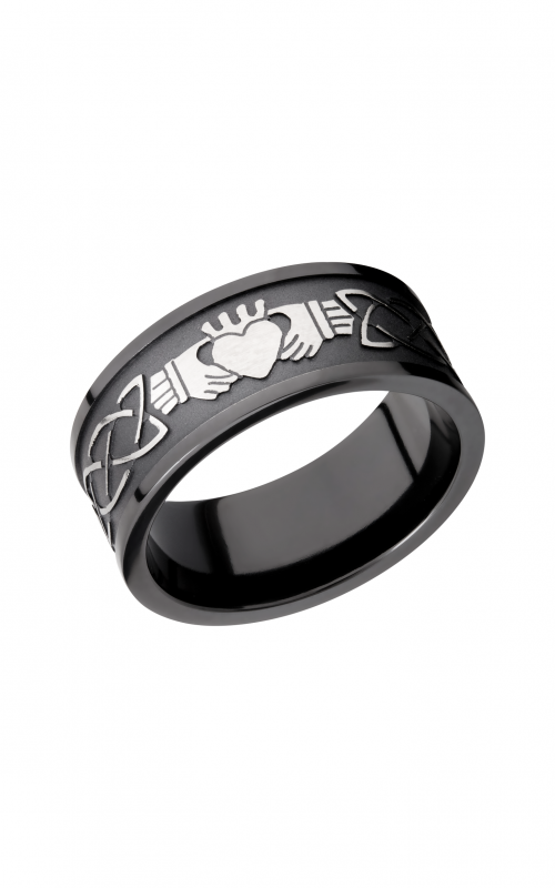 Lashbrook Zirconium Wedding band Z9FCLADDAGHCELTIC_SILVERTOP product image