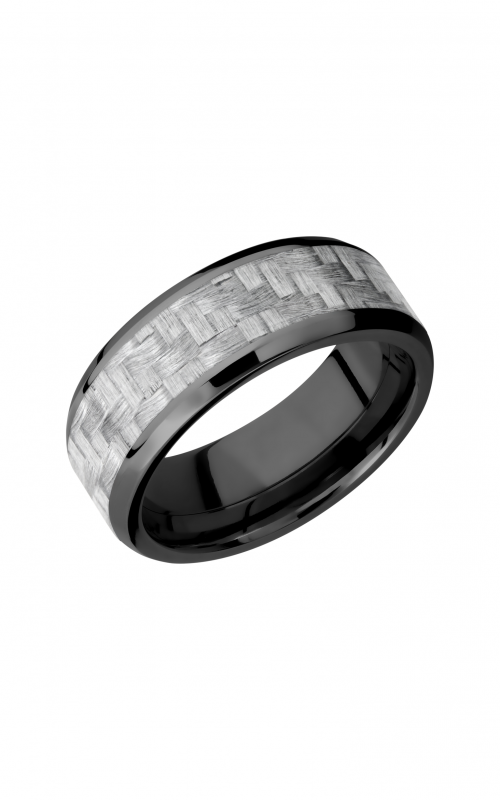 Lashbrook Carbon Fiber Wedding band ZC8B15 NS_SILVERCF product image