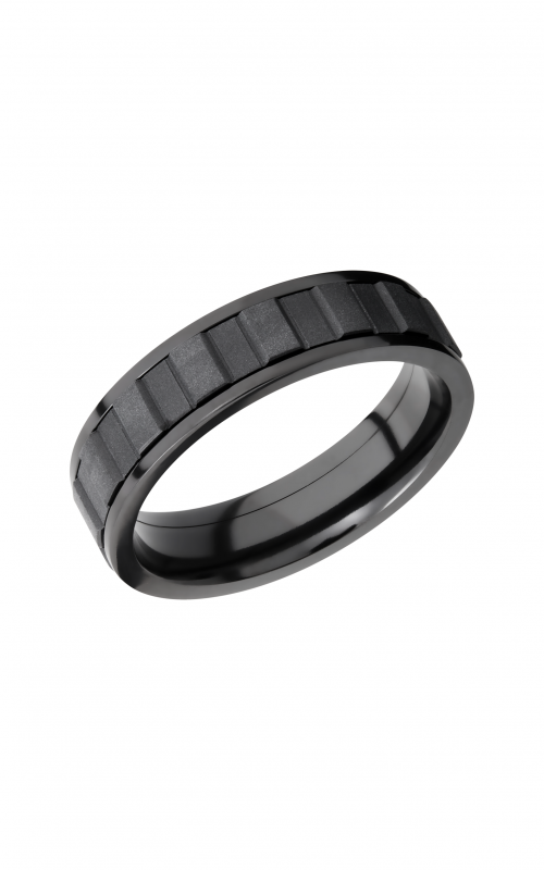 Lashbrook Zirconium Wedding band ZPF6F_GEARSPINNERALLBLK product image