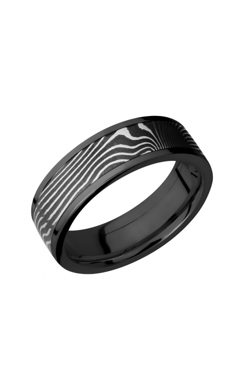 Lashbrook Damascus Steel Wedding band ZPF7F15_FLATTWIST product image