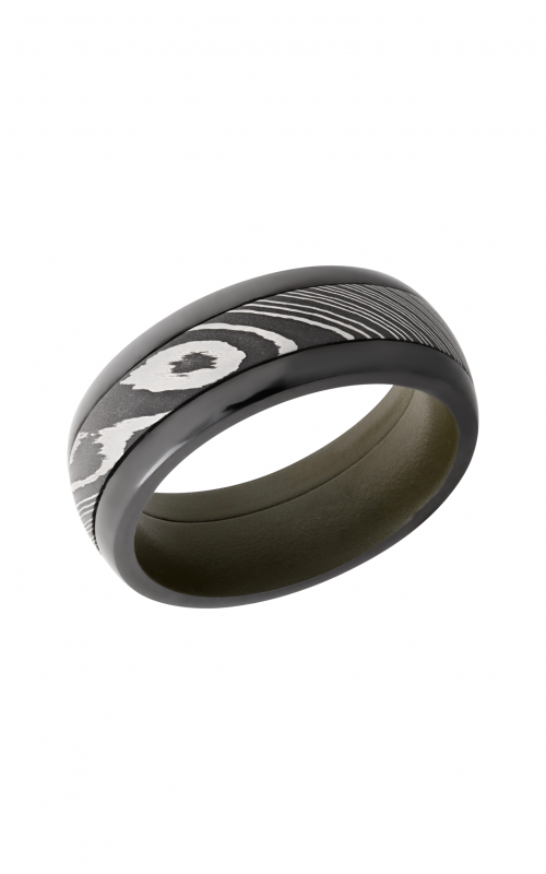 Lashbrook Damascus Steel Wedding band ZPF8D14_DAMASUS_ODGREENIN product image