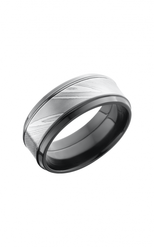 Lashbrook Damascus Steel Wedding band ZPF9B15 S_DAMASCUS product image