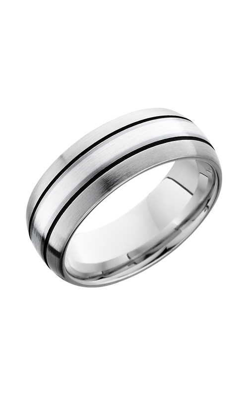 Lashbrook Cobalt Chrome Wedding band CC8DGE15_WHISKEYBARREL product image