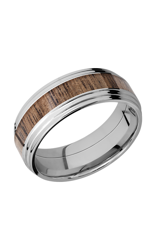 Lashbrook Cobalt Chrome Wedding band CC8F2S14_WALNUT product image