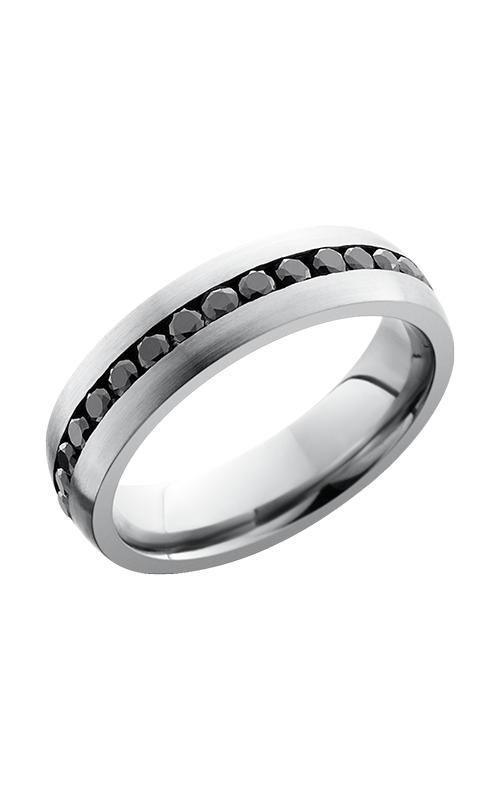 Lashbrook Cobalt Chrome Wedding band CC6DETERNITYBLKDIA.04CH product image