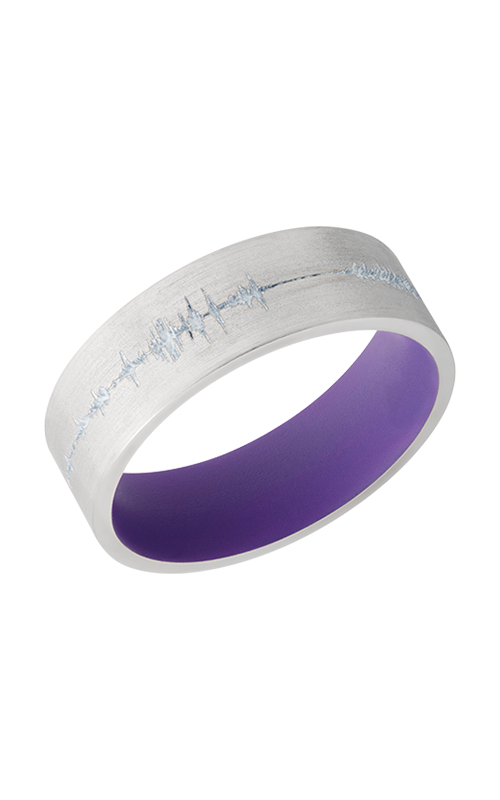 Lashbrook Cobalt Chrome Wedding band CC7F_LCVSOUNDWAVE_BRIGHTPURPLEIN_BRIGHTWHITEOUT product image