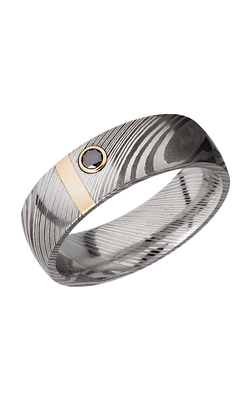 Lashbrook Damascus Steel Wedding band D7D12VERT_14KYBLKDIA.10MB product image