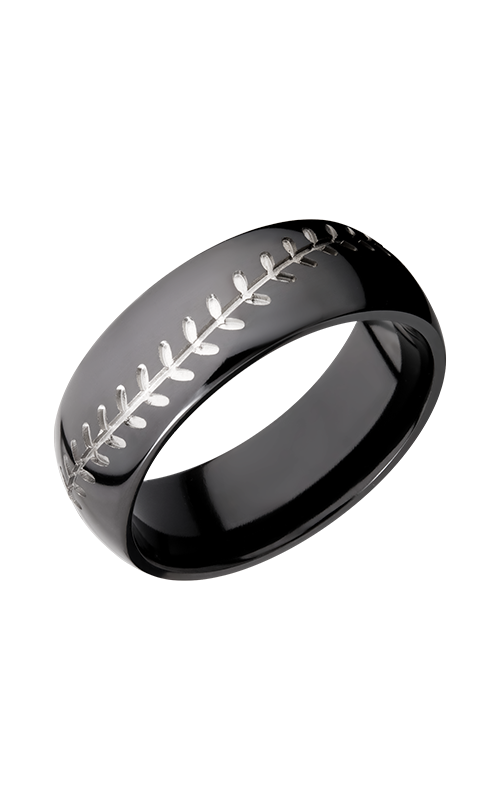 Lashbrook Zirconium Wedding band Z8D_BASEBALL product image