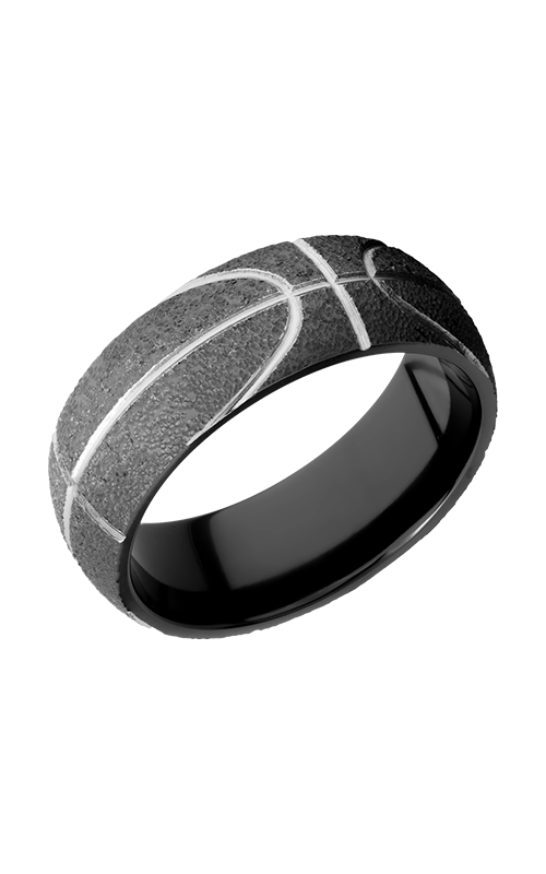 Lashbrook Zirconium Wedding band Z8D_BASKETBALL product image