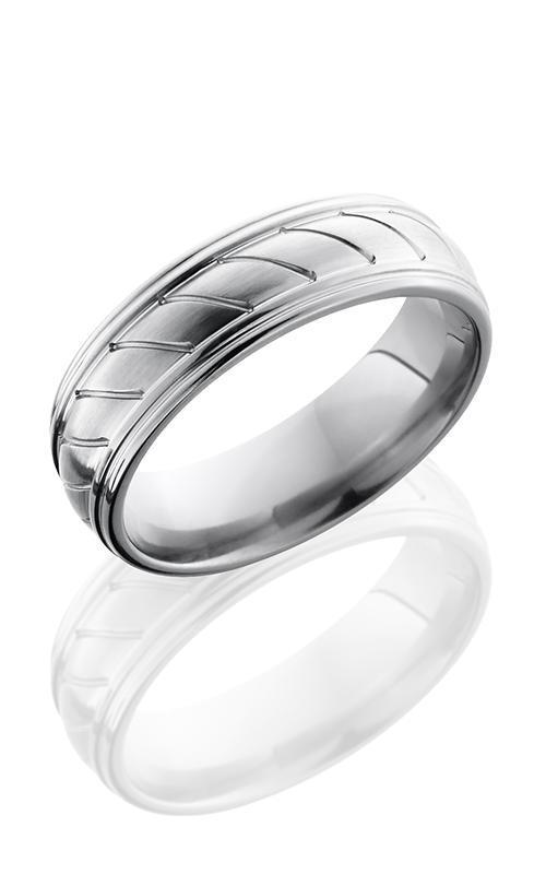 Lashbrook Titanium Wedding band 7REDDR0STRIPES product image
