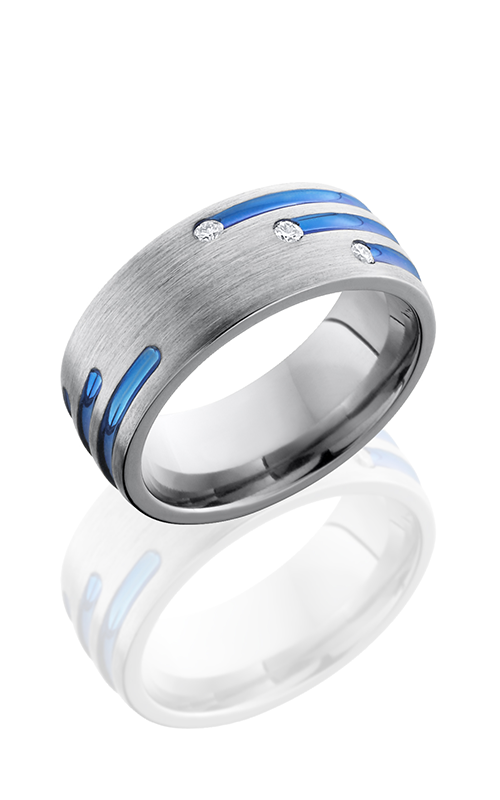 Lashbrook Titanium Wedding band 8DSTAGGERDIA3X 03 product image