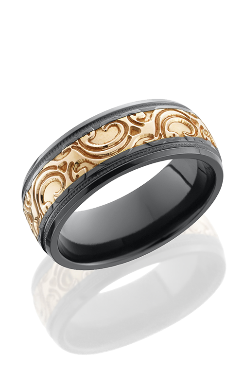 Lashbrook Zirconium Wedding band BZ8HRM14GRGMJBA POLISH product image