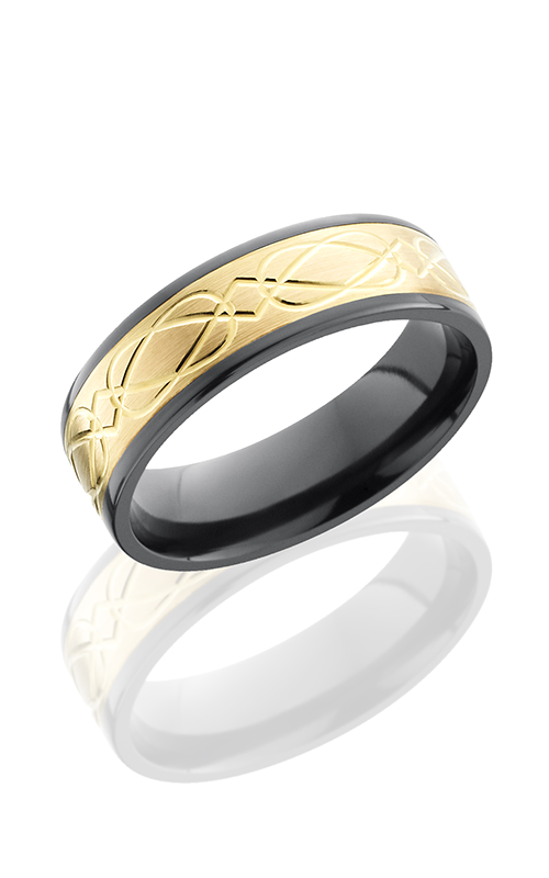 Lashbrook Zirconium Wedding band Z7F15 14KY CELTIC6 product image
