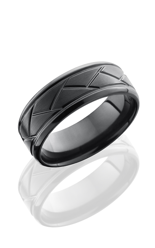 Lashbrook Zirconium Wedding band Z8BFLATTWEAVE product image