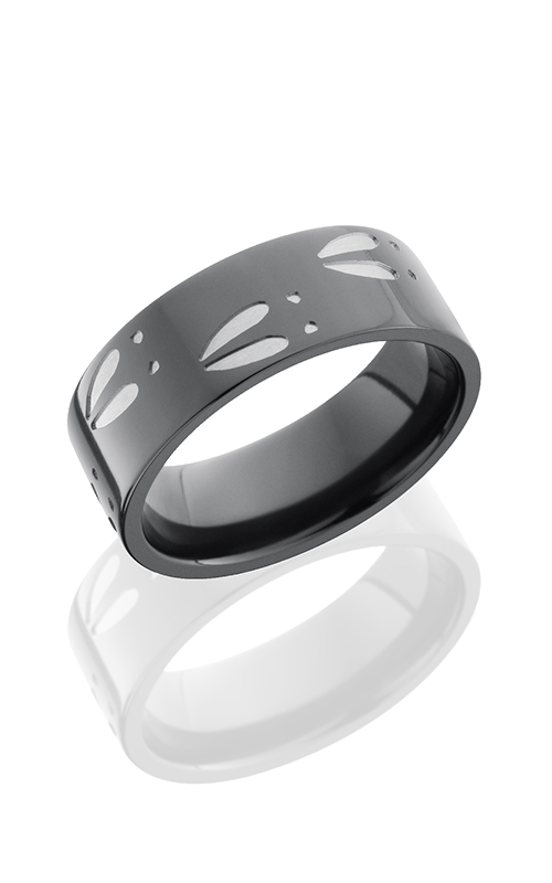 Lashbrook Zirconium Wedding band Z8F-DEERD POLISH product image