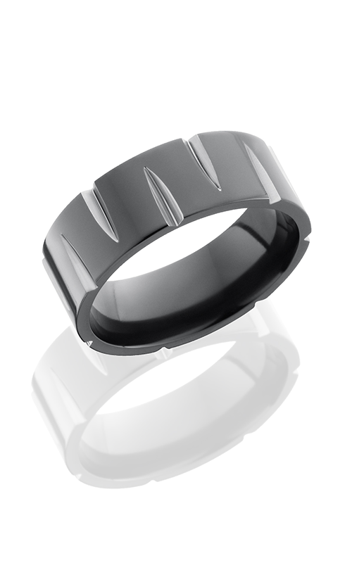 Lashbrook Zirconium Wedding band Z8F-GOUGED POLISH product image