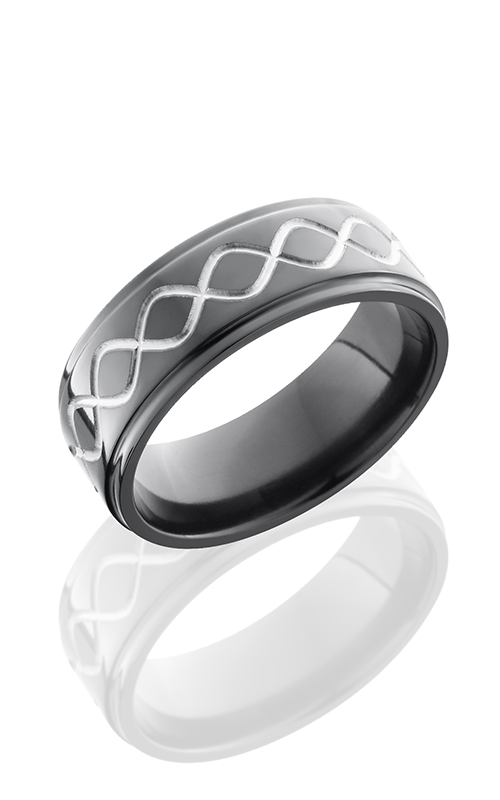 Lashbrook Zirconium Wedding band Z8FGE-TALLINF POLISH product image