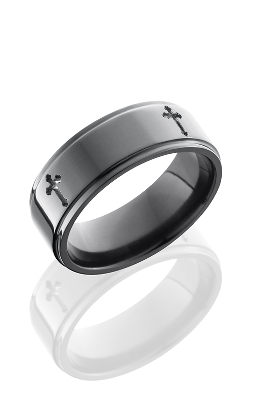 Lashbrook Zirconium Wedding band Z8FGE-4X POLISH product image