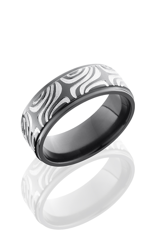 Lashbrook Zirconium Wedding band Z8FGE-MOKUME POLISH product image