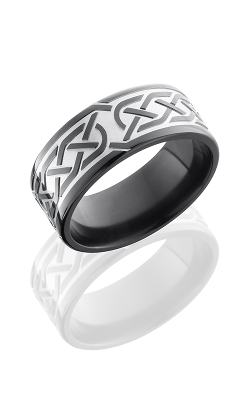 Lashbrook Zirconium Wedding band Z9F-CELTIC5 BEAD-POLISH product image