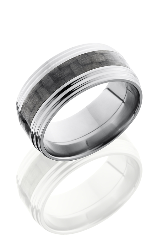 Lashbrook Carbon Fiber Wedding band C10FGG13 CF POLISH product image