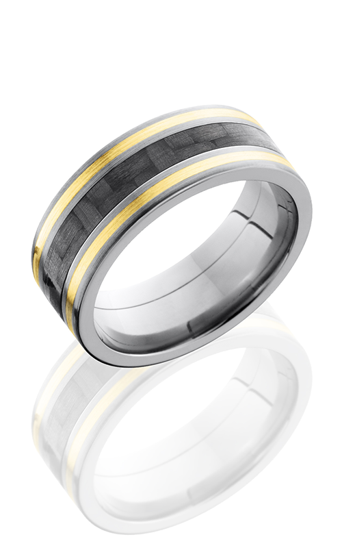 Lashbrook Carbon Fiber Wedding band C8F1321 CF14KY SATIN product image