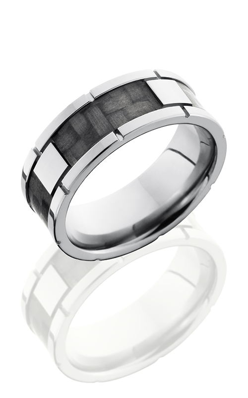 Lashbrook Carbon Fiber Wedding band C8F4SEG CF POLISH product image