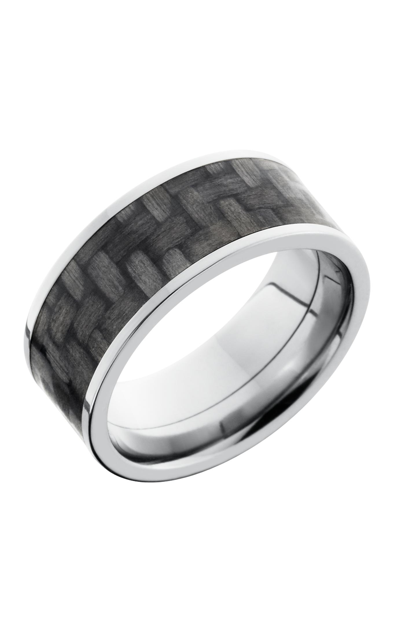 Lashbrook Carbon Fiber Wedding band C9F17 CF POLISH product image