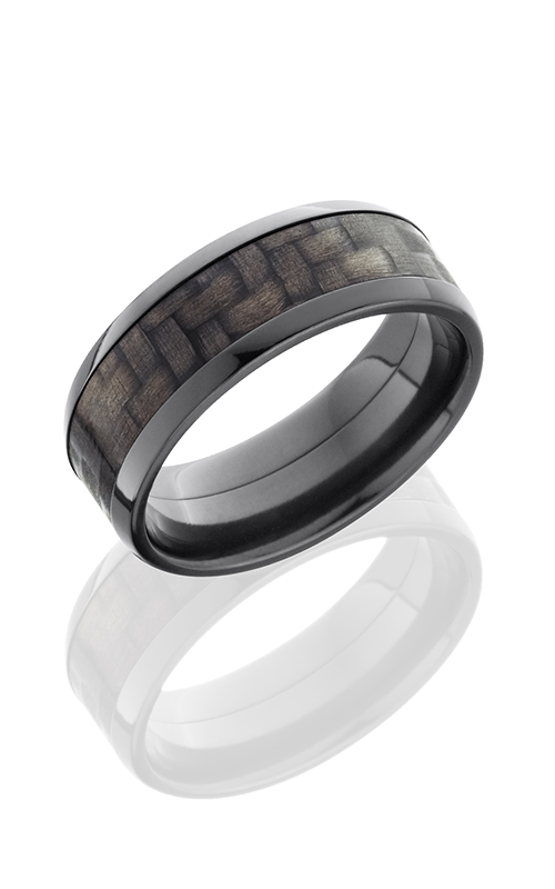 Lashbrook Carbon Fiber Wedding band ZC8B15 CF POLISH product image