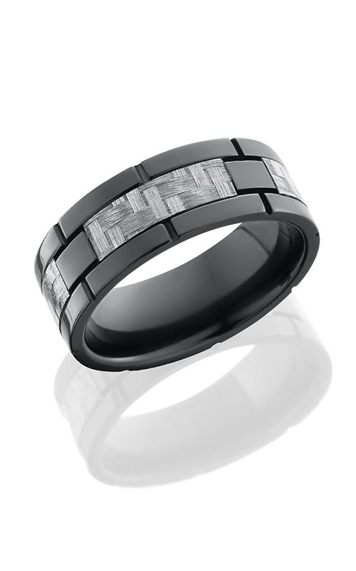 Lashbrook Carbon Fiber Wedding band ZC8F4SEG SILVERCF POLISH product image