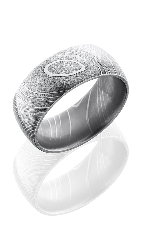 Lashbrook Damascus Steel Wedding band D10D POLISH product image