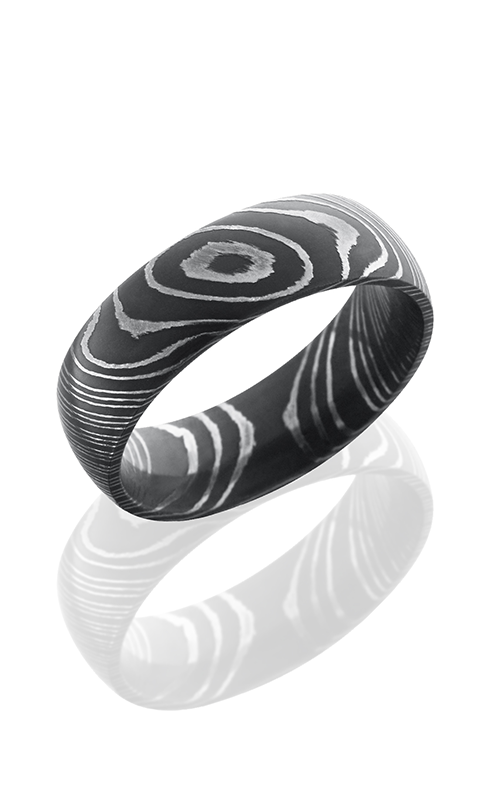 Lashbrook Damascus Steel Wedding band D7D ACID product image