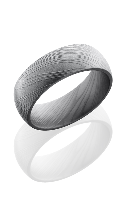 Lashbrook Damascus Steel Wedding band D8D BEAD product image