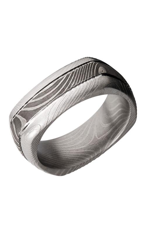 Lashbrook Damascus Steel Wedding band D8DSQ2.5FLATTWIST product image