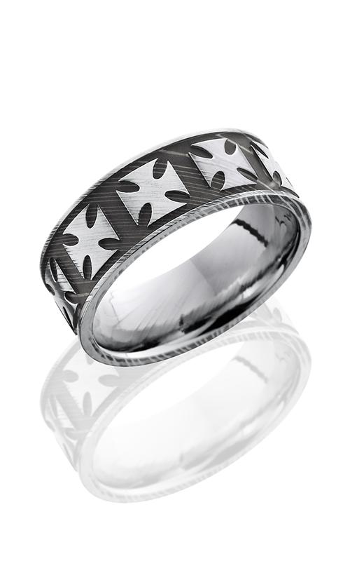 Lashbrook Damascus Steel Wedding band D8FMALTESE ACID-POLISH product image