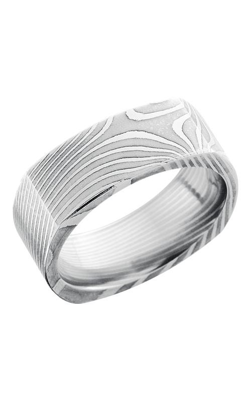 Lashbrook Damascus Steel Wedding band D8FSQFLATTWIST POLISH product image