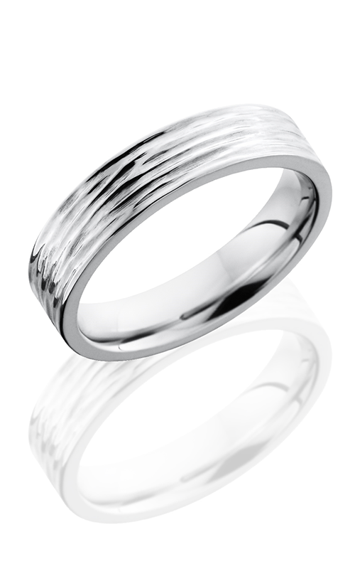Lashbrook Cobalt Chrome Wedding band CC5F TREEBARK 3 product image