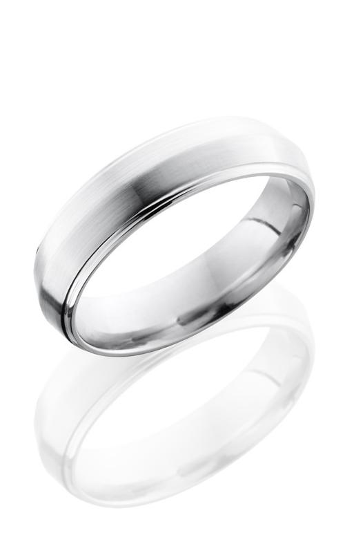 Lashbrook Cobalt Chrome Wedding band CC6PGE SATIN-POLISH product image