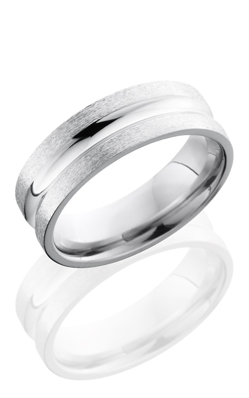 Lashbrook Cobalt Chrome Wedding band CC7C POLISH-STONE product image