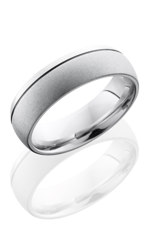 Lashbrook Cobalt Chrome Wedding band CC7D1.5OC BEAD-POLISH product image