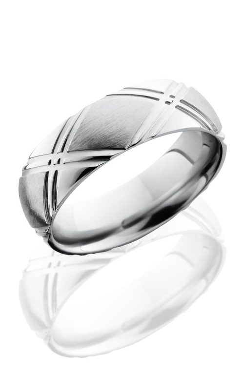 Lashbrook Cobalt Chrome Wedding band CC7DDOUBLEX SATIN-POLISH product image