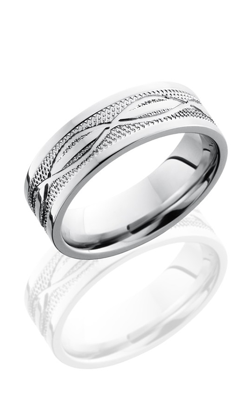 Lashbrook Cobalt Chrome Wedding band CC7F4.5INFKNURL POLISH product image