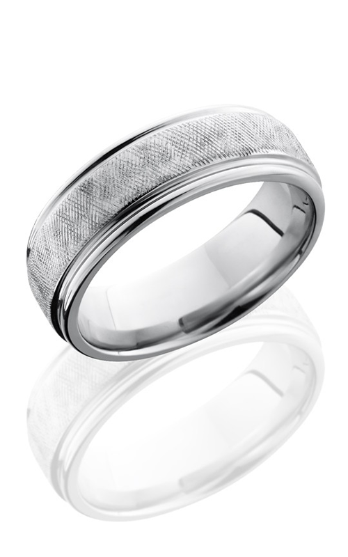 Lashbrook Cobalt Chrome Wedding band CC7REF FLORENTINE-POLISH product image