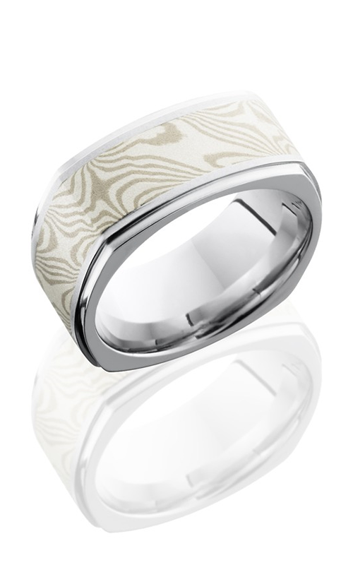 Lashbrook Cobalt Chrome Wedding band CC8.5FGESQ15-MSSPD BEAD-POLISH product image