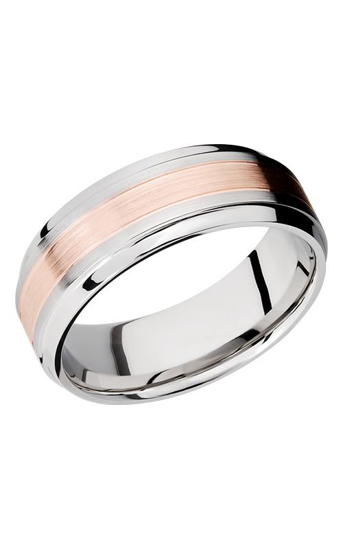 Lashbrook Cobalt Chrome Wedding band CC8B13-14KRG POLISH-SATIN product image