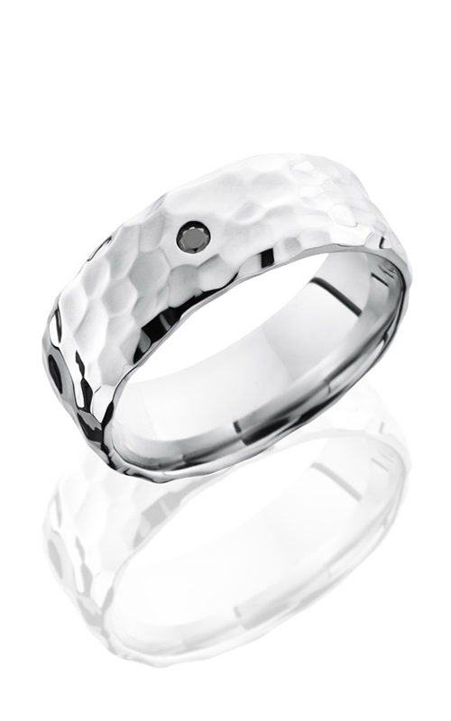 Lashbrook Cobalt Chrome Wedding band CC8BBLKDIA.05F ROCK POLISH product image