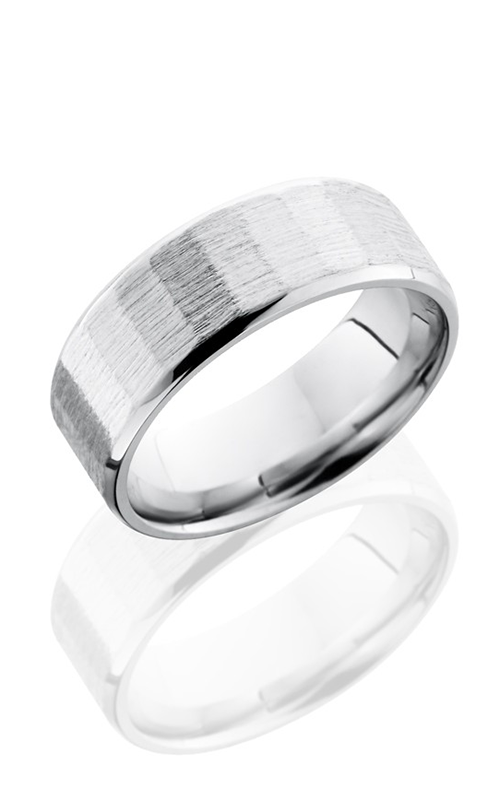 Lashbrook Cobalt Chrome Wedding band CC8BFACET1 SANDPAPER SATIN product image