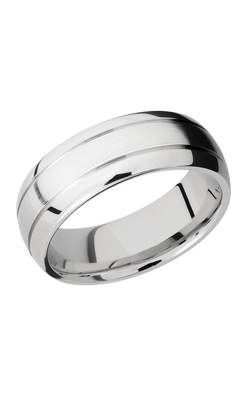 Lashbrook Cobalt Chrome Wedding band CC8D2.5 SATIN-POLISH product image