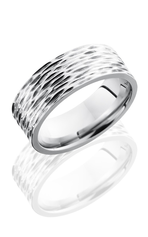 Lashbrook Cobalt Chrome Wedding band CC8F TREEBARK 3 product image